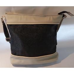 Béžová kabelka kožená