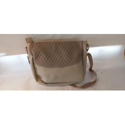 béžová kabelka z  koženky